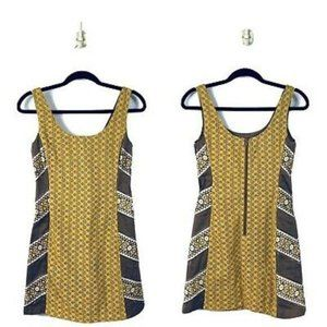 Judith March Embroidered Golden Yellow Dress M